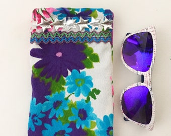 Reading Glasses Upcycled Case, Sunglasses Soft Case, Glasses Case,  Ready to Ship Gift Idea