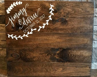 Wedding Guest Book Sign, Guest Book, Wooden Guest Sign, Wedding Decor, Wedding Ceremony Sign, Wedding Sign, Rustic Wedding