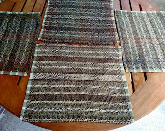 Woven Placemats - Set of 4 - Mixed Pattern - Acrylic Placemats. #16W11