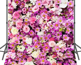 3D Rose Flowers Photo Backdrop for Wedding Kids Birthday Photography Backdrops Photo Studio Backdground Party Decorations