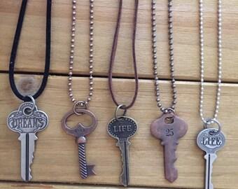 Life, Dreams, # Key Necklaces