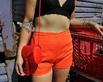 Handmade high-waisted shorts
