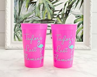 Last Flamingle Bachelorette Party Cups, 22oz