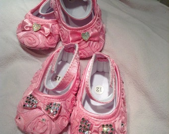 2 pairs miss rosebud fairy shoes both 6-12 months