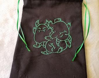 Green Monster Drawstring Bag