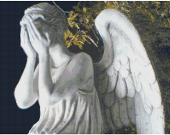 Weeping Angel Doctor Who Cross Stitch Pattern