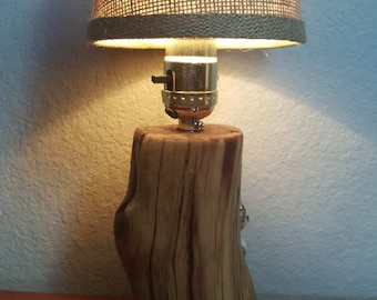 11 in. Juniper Wood Lamp