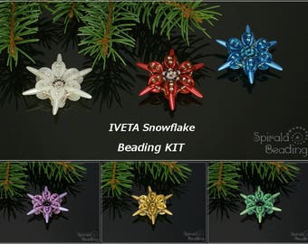 IVETA Snowflake Christmas Beading Kit - 1 pc - KIT ONLY without tutorial!