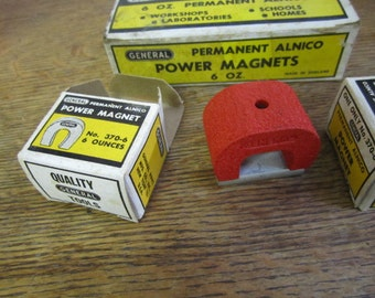 General POWER MAGNET. 6oz Permanent Alnico. Super Strong Magnet. Made in England