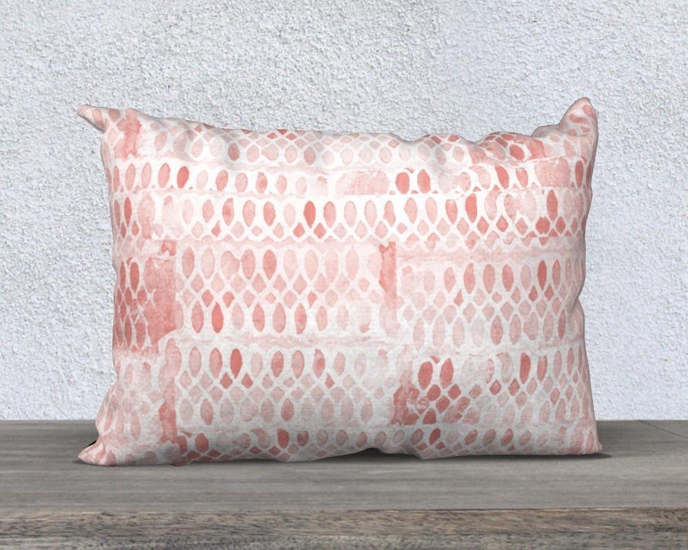 Blush Throw Pillow Blush Pillow Cover Lumbar Pillow