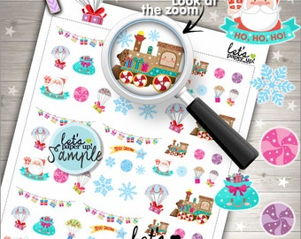 60%OFF - Christmas Stickers, Printable Planner Stickers, Kawaii Stickers, Planner Accessories, Santa Sticker, Seasonal Stickers, Winter