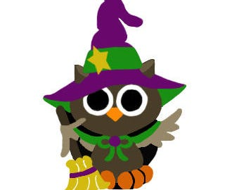 Halloween Hootie the Owl jpg, png and svg cutting file, card option