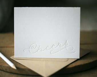 Letterpress Holiday Cards - Cheers holiday cards