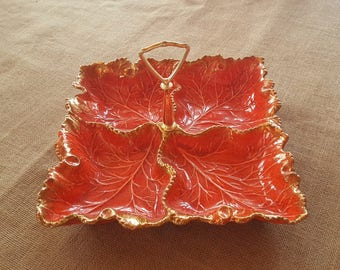 California Pottery #657 4-Leaf Serving Dish