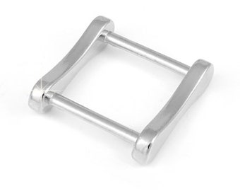 Metal Accessory Ring Square Inner Size 20 mm, 10 Pcs. Pack, Color Nikel Lucido, Code AZ32/20-NKL