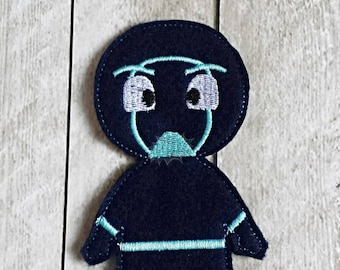 Night time Villain Finger Puppet set - Ninja, Funny, Dark Blue, Night, Puppets, Masks, Toys