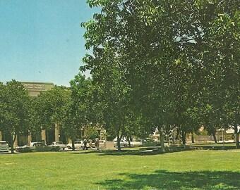 Vintage 1960s Postcard Fort Stockton Texas Pecos County Courthouse Building Government Architecture Photochrome Era Postally Unused
