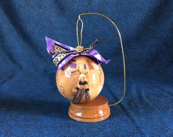 Vintage Mattel Evening Majesty Decoupage Barbie Ornament and Stand