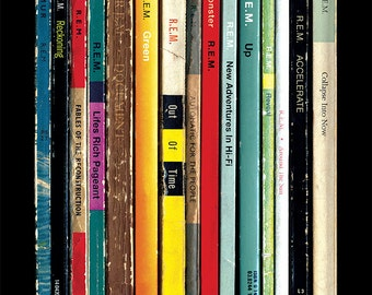 REM Albums As Penguin Books Poster Print | Literary Paperback Rock Music Art | Michael Stipe Peter Buck Home Decor
