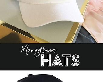 Sorority Hat - Custom Sorority Hats - Monogram Hat for Women - Personalized Trucker - Sorority Gifts (EB3173M)