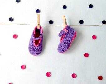 Mary Jane baby ballerina shoe *handmade* crochet shoe custom made