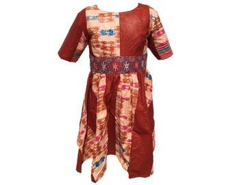 Girls Ankara dress size 8 yrs US standard(75% off sale)