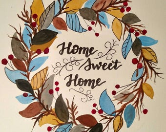 Home Sweet Home Wreath-Decor, Home Decor, Wall Hangings, Gifts