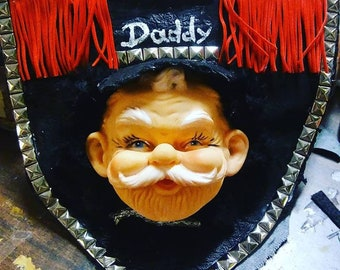 Leather Daddy bib with Pocket for your poppers