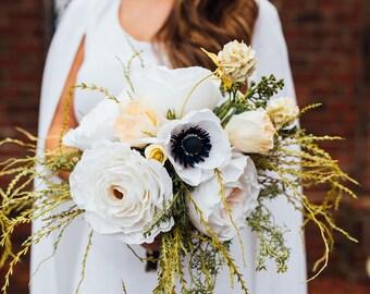 Aphrodite Paper Flower Wedding Bouquet in Petite