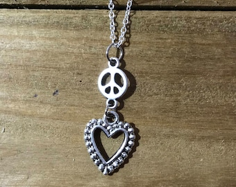 Peace Heart Necklace