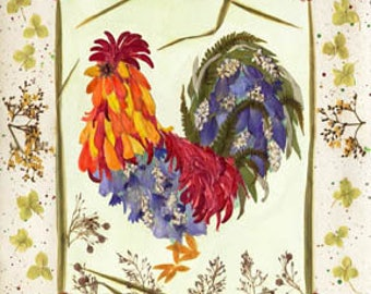 Tile decal stickers Rooster 4x4 or 6x6 wall art
