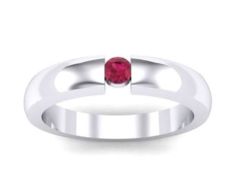 Floating Solitaire Ruby Ring, Ruby Ring, Solitaire Ring, Floating Ring, Ruby, Ruby Jewelry, Gift For Her, Jewelry