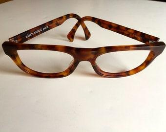 Vintage Alain Mikli tortoiseshell eyeglasses sunglasses frame made in France