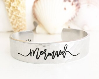 Mermaid Cuff Bracelet, Mermaid Jewelry, Mermaid Lover, Mermaid Gift, Beach Boho Jewelry