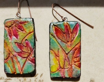 Polymer clay, earrings,