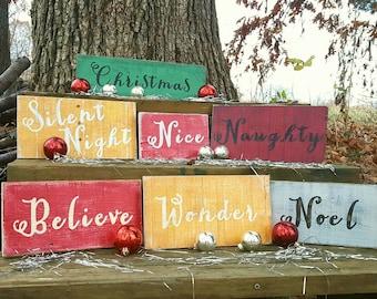 Christmas wood sign, Rustic Christmas signs, Christmas decor, Custom Christmas sign, Hand painted Christmas sign, Farmhouse Christmas decor