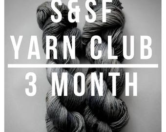 3 Month Yarn Club Subscription - April, May, & June