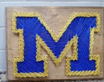 University of Michigan String Art
