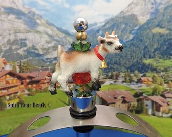 Christmas Kid Goat Wine Stopper Wine Gift  Farm Animals