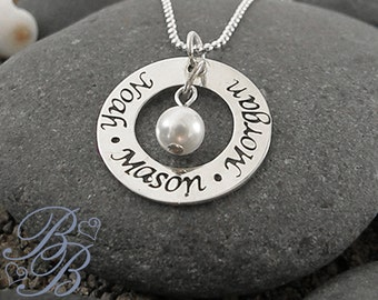 Personalized Jewelry - Mother's Necklace - Hand Stamped Jewelry