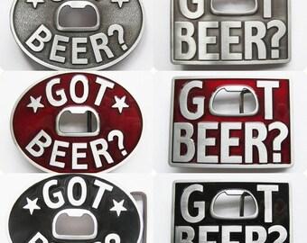 Belt with Beer bottle opener buckle