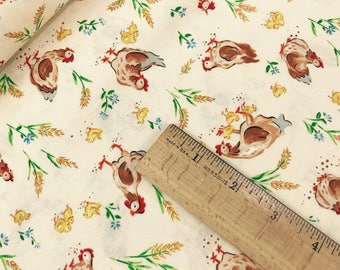 Roosters from the Country Days Collection by Heidi Boyd for Red Rooster Fabrics, Chicken Fabric, Farm Fabric
