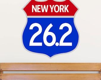 New York Marathon 26.2 Shield Wall Decal - #57368
