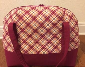Plaid Weekender Bag