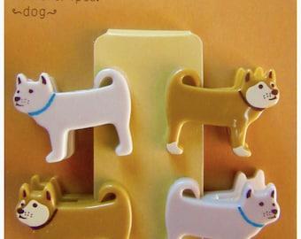 4 mini clips DOGS - Midori