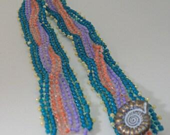Braided Peyote Stitched Bracelet