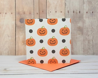 Pumpkin Mini Cards, Halloween Cards, Jack O Lantern Cards, Classroom Cards, Small Note Cards, Blank Note Cards, Mini Envelopes, Set of 4