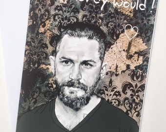Tom Hardy Illustrative A5 Valentines Card