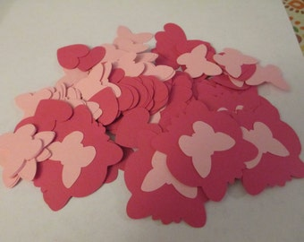 100 Butterfly and Heart Cut Outs Scrapbooking Craft Supplies