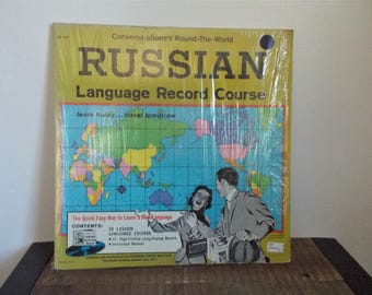 1960 Russian Language Record Course LP Conversa Phone Institute